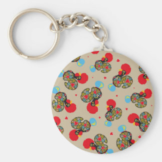 Famous Rooster of Barcelos Nr 06 Pattern Keychain