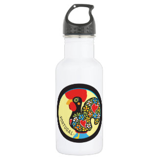 Famous Rooster of Barcelos Nr 06 Stainless Steel Water Bottle