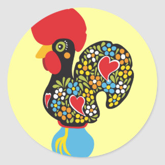 Famous Rooster of Barcelos Nr 06 Round Sticker