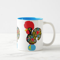 Famous Rooster of Barcelos Nr 06 Two-Tone Coffee Mug