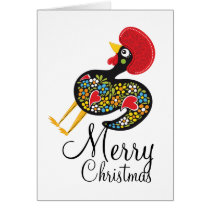 Famous Rooster of Barcelos Nr 07 Merry Christmas Card