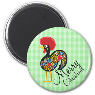 Famous Rooster of Barcelos Nr 07 Merry Christmas Magnet