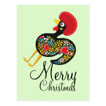 Famous Rooster of Barcelos Nr 07 Merry Christmas Postcard