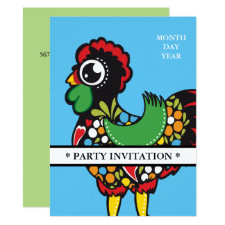 Famous Rooster of Barcelos Nr 08 invitation