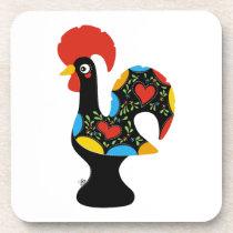 Famous Rooster of Barcelos Nr 09 Beverage Coaster