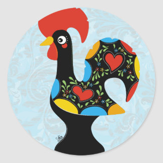 Famous Rooster of Barcelos Nr 09 Classic Round Sticker