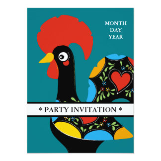 Famous Rooster of Barcelos Nr 09 invitation