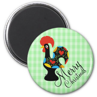 Famous Rooster of Barcelos Nr 09 Merry Christmas Magnet