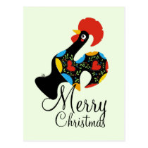 Famous Rooster of Barcelos Nr 09 Merry Christmas Postcard