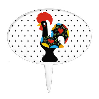 Famous Rooster of Barcelos Nr 09 - Polka Dots Cake Topper
