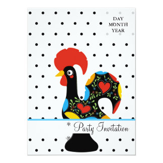 Famous Rooster of Barcelos Nr 09 - Polka Dots Card