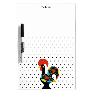 Famous Rooster of Barcelos Nr 09 - Polka Dots Dry-Erase Board