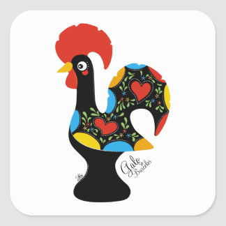Famous Rooster of Barcelos Nr 09 Square Sticker