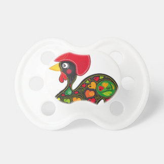 Famous Rooster of Barcelos Nr 2 Baby Pacifiers