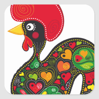 Famous Rooster of Barcelos Nr 2 Square Sticker