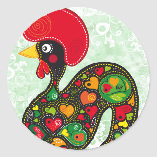 Famous Rooster of Barcelos Nr 2 Stickers