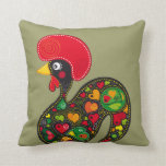 Famous Rooster of Barcelos Nr 2 Throw Pillow