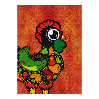 Famous Rooster of Barcelos Nr 4 - poster