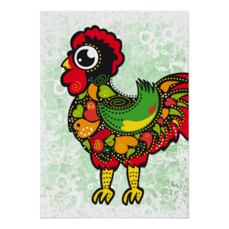 Famous Rooster of Barcelos Nr. 4 Poster