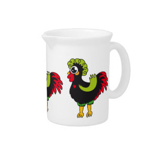 Famous Rooster of Barcelos Nr 5 Beverage Pitcher