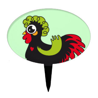 Famous Rooster of Barcelos Nr 5 Cake Topper