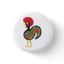 Famous Rooster of Barcelos Portugal Nr. 07 Button