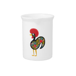 Famous Rooster of Barcelos Portugal Nr. 07 Pitcher