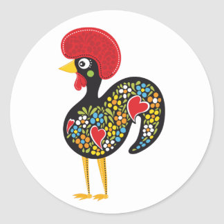 Famous Rooster of Barcelos Portugal Nr. 07 Round Sticker