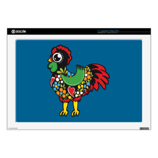 "Famous Rooster of Barcelos Portugal Nr. 08 Decals For 17"" Laptops"