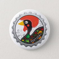 Famous Rooster of Portugal Nr 02 Pinback Button