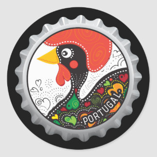Famous Rooster of Portugal Nr 02 Round Sticker