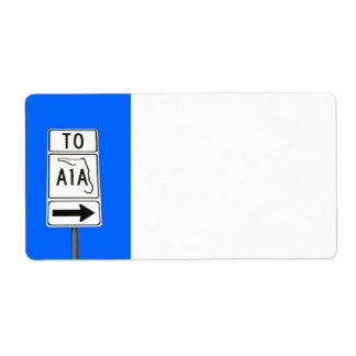 Famous Route A1A Sign Shipping Label