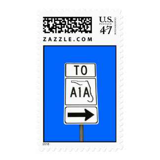 Famous routed A1A Postage