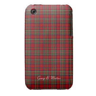 Famous Royal Stewart tartan, add name customizable iPhone 3 Cover