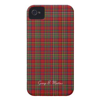 Famous Royal Stewart tartan, add name customizable iPhone 4 Cover