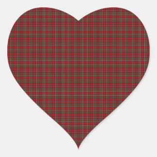 Famous Royal Stewart tartan Heart Sticker