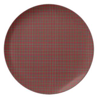 Famous Royal Stewart tartan Melamine Plate
