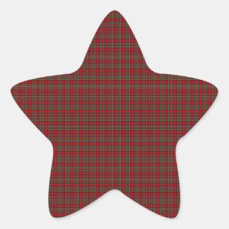 Famous Royal Stewart tartan Star Sticker