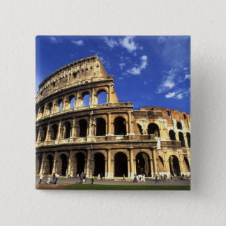 Famous ruins of the Coliseum in Rome Italy Button