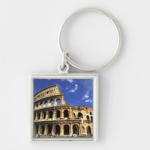 Famous ruins of the Coliseum in Rome Italy Keychains