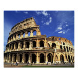 Famous ruins of the Coliseum in Rome Italy Print