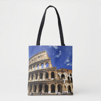 Famous ruins of the Coliseum in Rome Italy Tote Bag