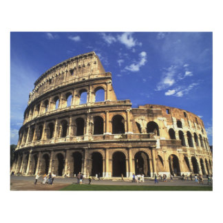 Famous ruins of the Coliseum in Rome Italy Wood Wall Art