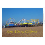 Famous Santa Monica, California Pier Ferris Wheel Greeting Card