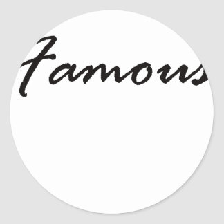 Famous Classic Round Sticker