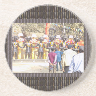 Famous SurajKund Festival Mela 2016 photo graphics Sandstone Coaster