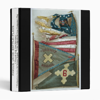 Famous Union Battle Flags - Plate 1 - 3 Ring Binder