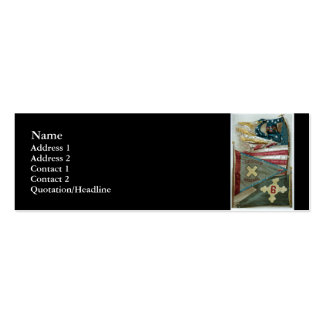 Famous Union Battle Flags - Plate 1 - Double-Sided Mini Business Cards (Pack Of 20)