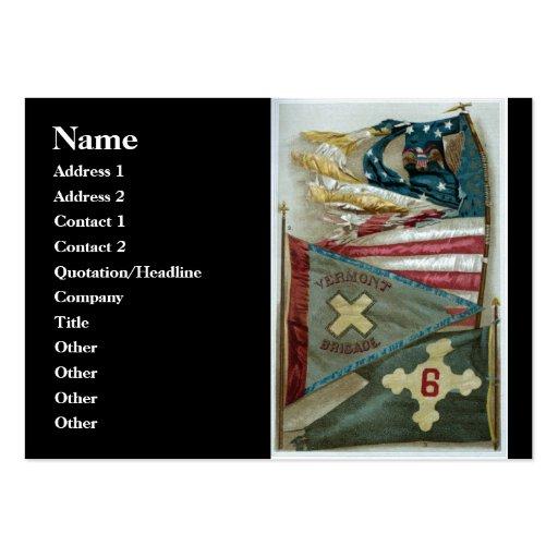 famous union battle flags plate 1 business card template zazzle. Black Bedroom Furniture Sets. Home Design Ideas