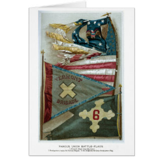 Famous Union Battle Flags - Plate 1 - Greeting Card